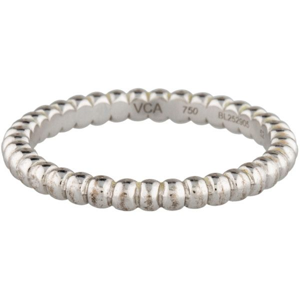 Pre-owned Van Cleef & Arpels Perl?e Ring (17 895 UAH) ❤ liked on Polyvore featuring jewelry, rings, silver, preowned jewelry, 18k white gold jewelry, beaded rings, white gold jewelry and pre owned rings