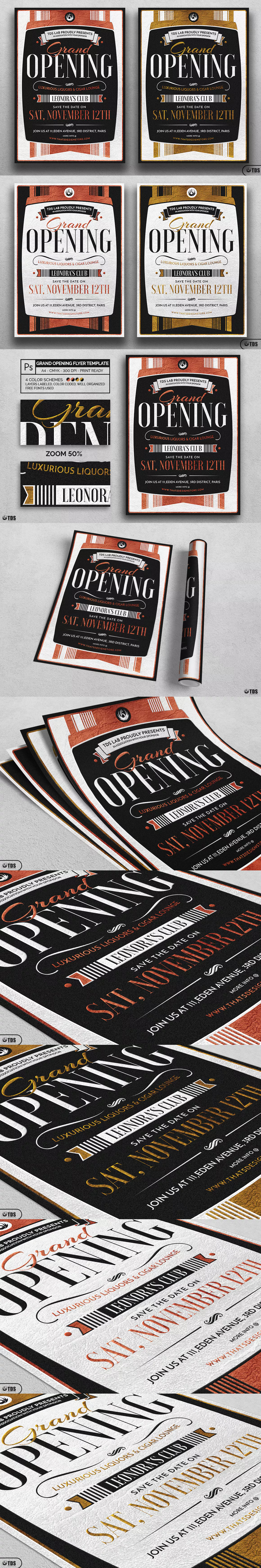 Grand Opening Flyer Template Psd  A  Flyer Design Templates