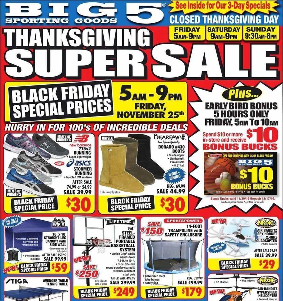 Big 5 Sporting Goods 2019 Black Friday Ad