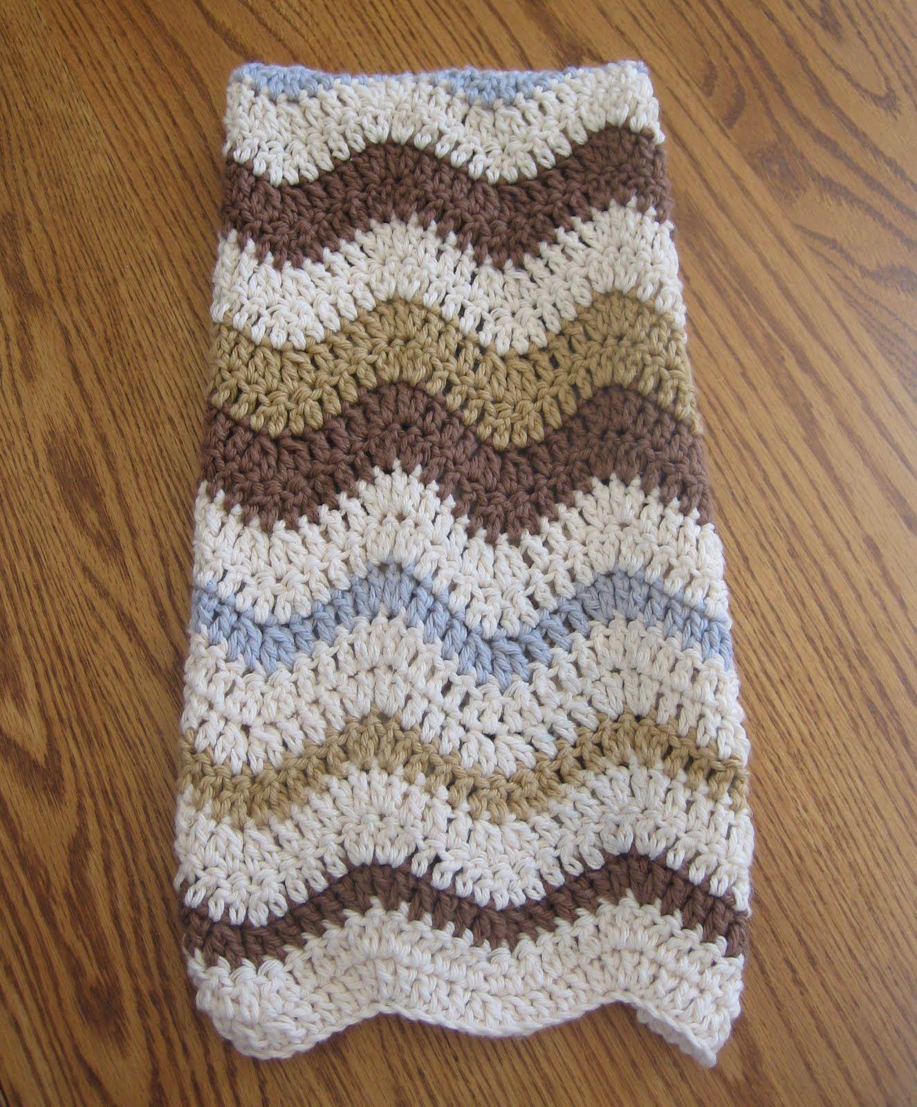 Crochet N Play Designs Free Crochet Pattern Lazy Wave Hand Towel