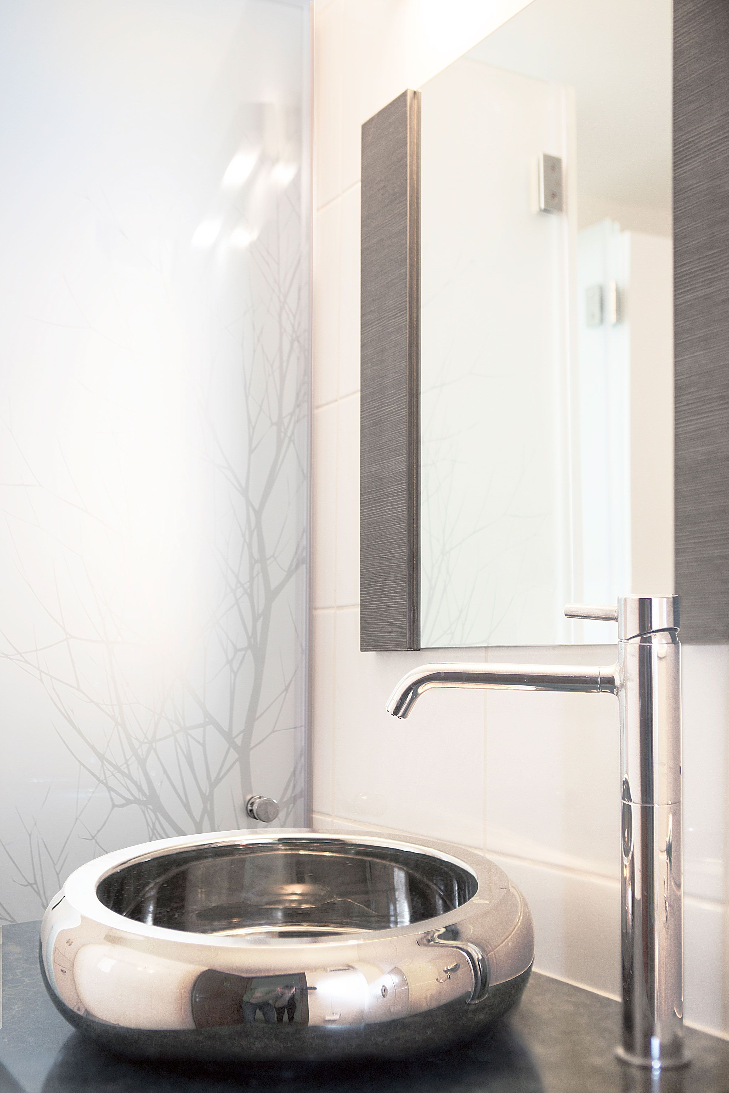 silver sink placed on top of a blue marble in a bathroom design by rh pinterest com marble floor in a bathroom marble tile in a bathroom