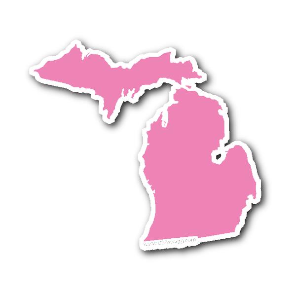Michigan State Shape Sticker Outline Black Michigan Sticker State Shapes Michigan State