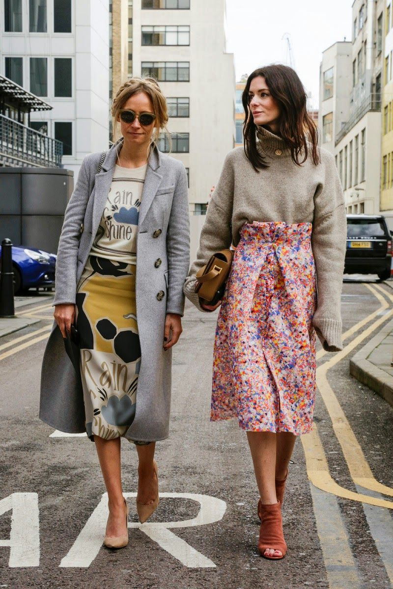 Street Style London Fashion Week F W 39 15 For The Fall Girl Pinterest Gonne Abiti Fai Da