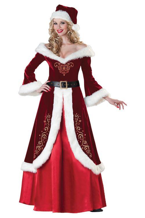 bb10b8978fa Kerstvrouw kostuum luxe - Dames Toppers kerstkleding en ...