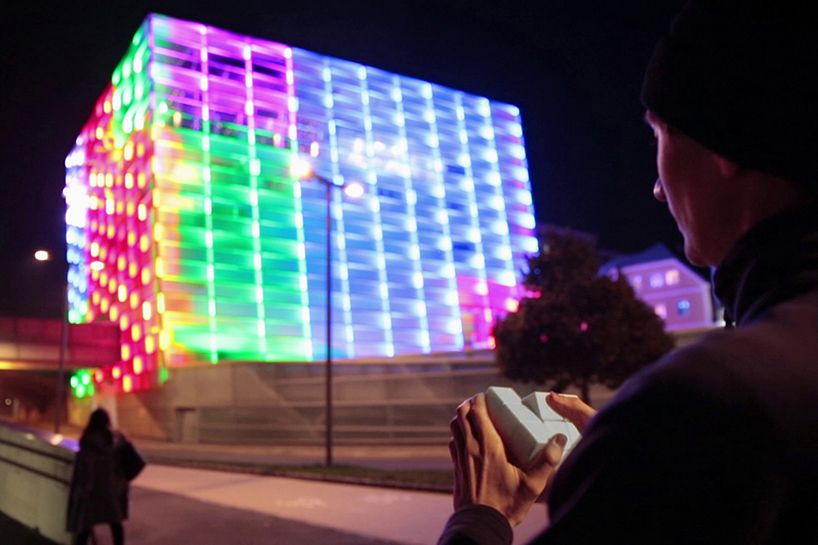 puzzle facade turns architecture into a playable rubik's cube