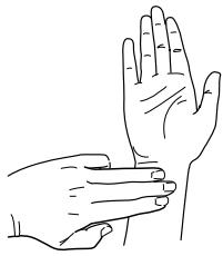 Figure 1. Placing 3 fingers across wrist   Acupressure ...