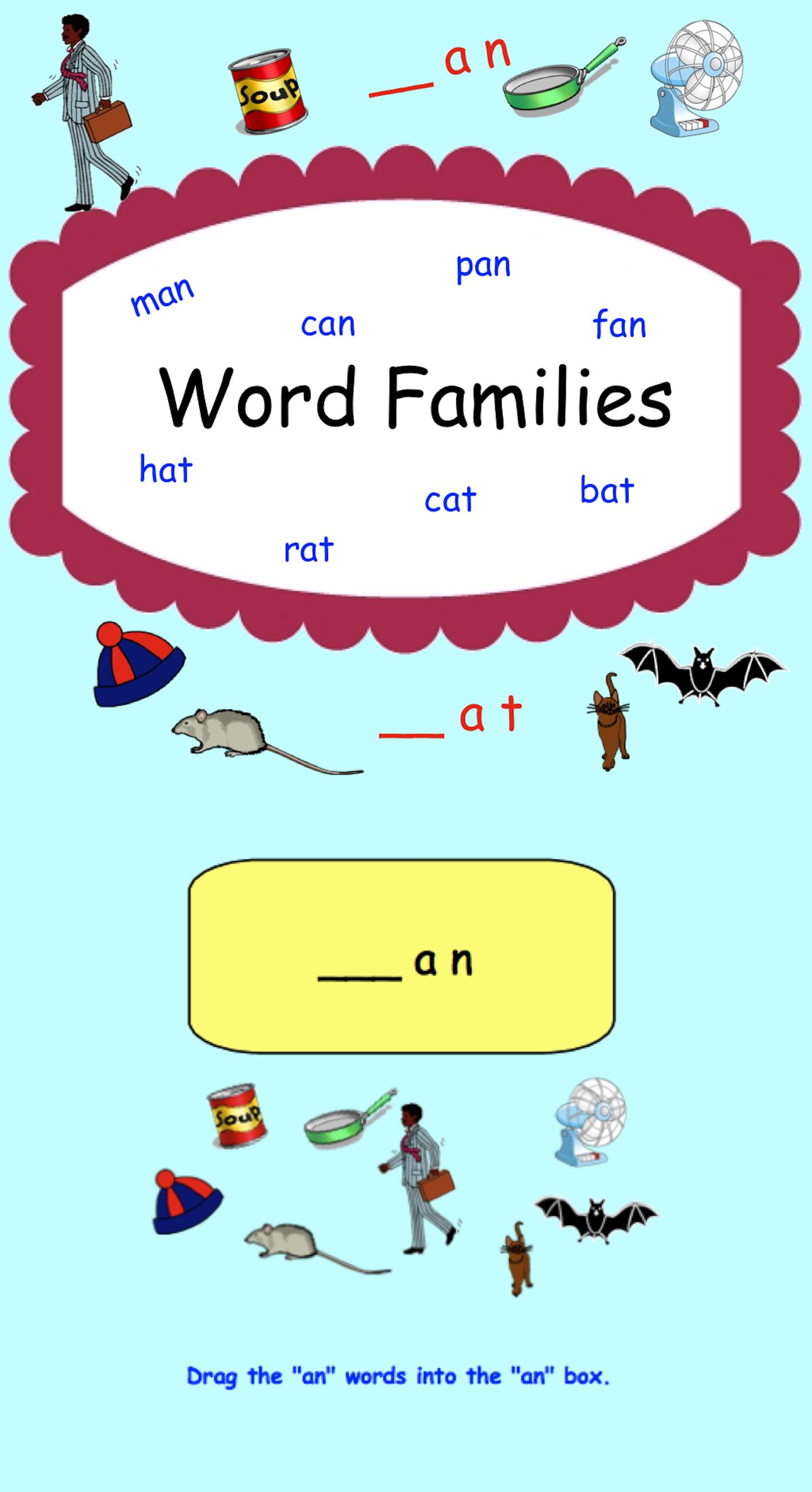 Smartboard Word Families At An In En