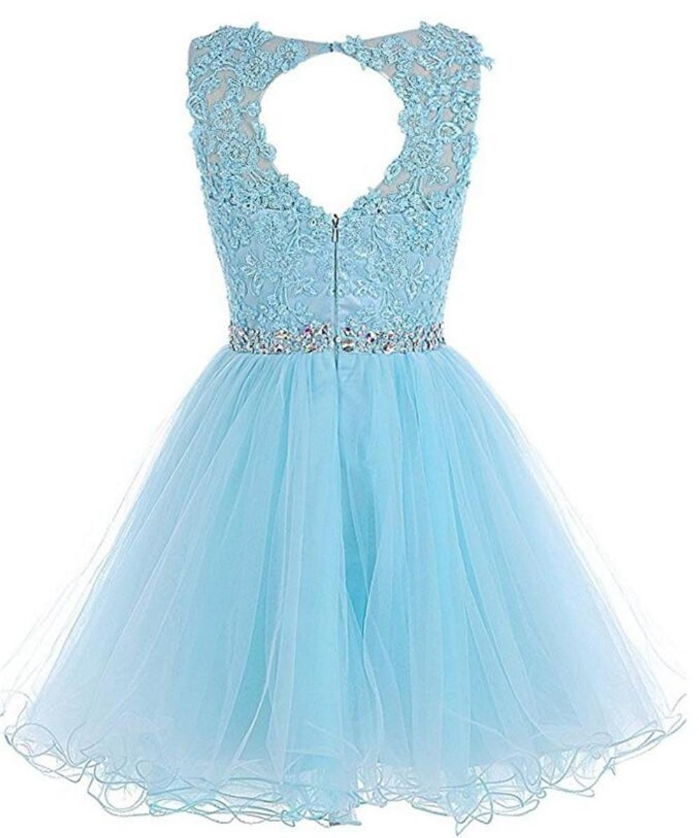 9b29dd7ce6 Dydsz Womens Short Prom Dress Homecoming Dresses Beaded Appliques Party  Cocktail D126 Blush 2   Check out the image by visiting the link.