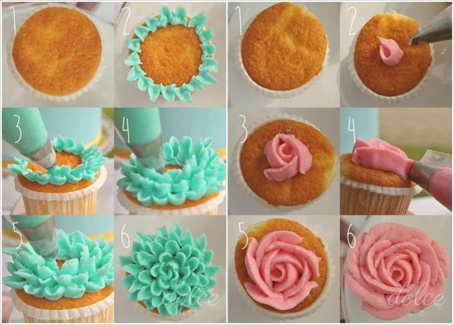Cupcake Decorating Ideas Step By Step : Pin by Cindy Heeralal on Frosting Techniques Pinterest ...