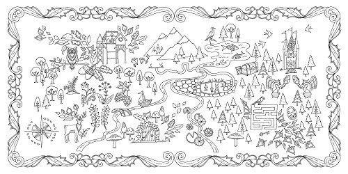 This Stunning New Colouring Book By Johanna Basford Takes Readers On An Inky Quest Through