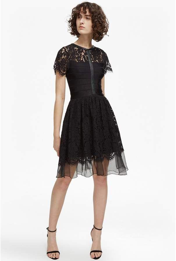 French Connection Shana Spotlight Flared Lace Dress 9296e8b91
