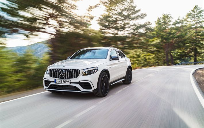 Download Wallpapers Mercedes Benz Glc63 S Amg 2018 Cars Motion
