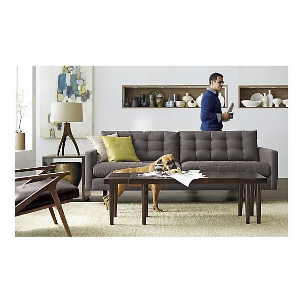 Petrie Sofa, Tandem Coffee Table I Crate And Barrel