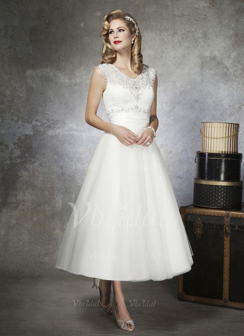 Brautkleider - $162.01 - A-Linie/Princess-Linie U-Ausschnitt ...