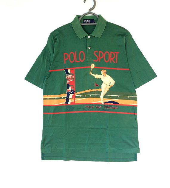 ON SALE!!Rare Vintage Polo Sport tennis Polo cup contest shirt ...