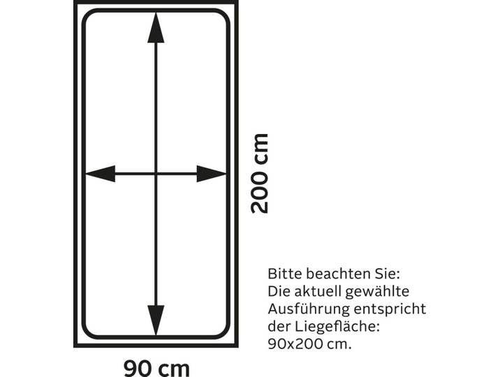 Photo of Maintal Polsterbett Lotus Struktur / Kunstleder, 90×200 cm Höhe Bettse