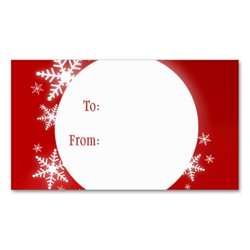 Snowflakes red white christmas gift tag business cards and card snowflakes red white christmas gift tag business card templates accmission Choice Image