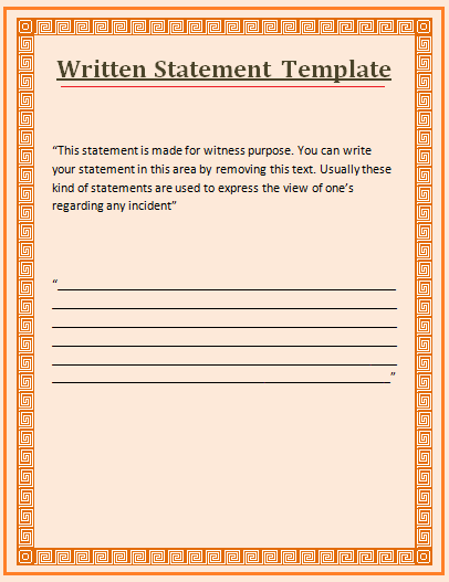 Witness statement template love to add pinterest statement witness statement template altavistaventures Choice Image