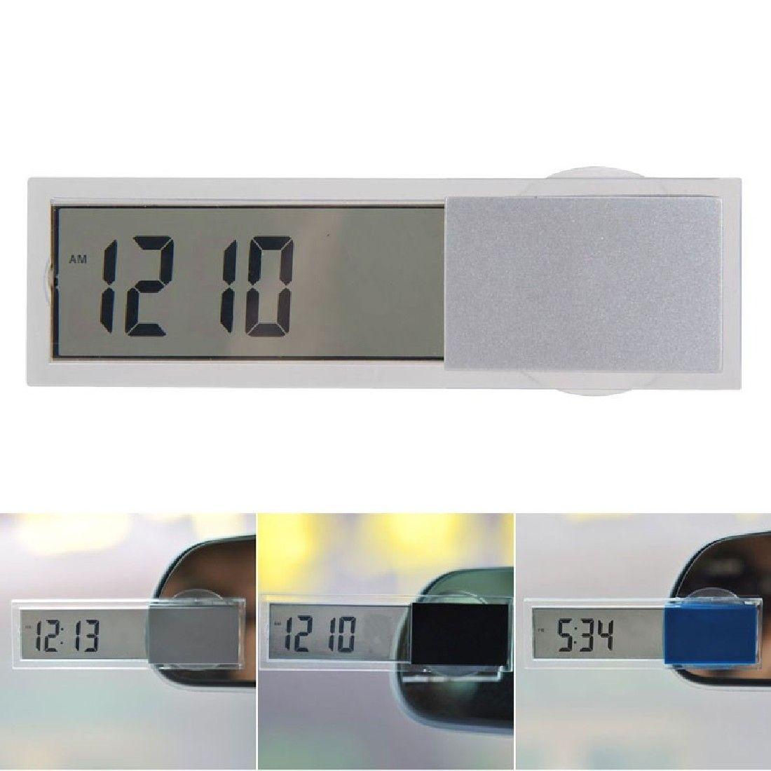 2016 뜨거운 판매 미니 LCD 디지털 자동 자동차 트럭 시계 흡입 컵 버튼 셀 배터리 휴대하기 쉬운