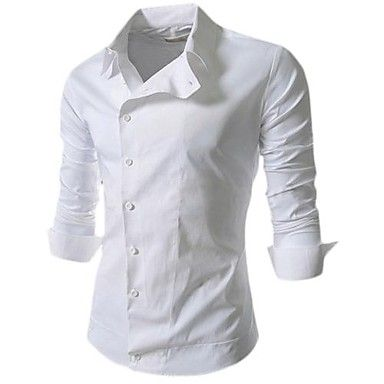 delgada camisa de botones lado formal de walk®men Manwan con color sólido -  USD   106.60 2d8cb30229e