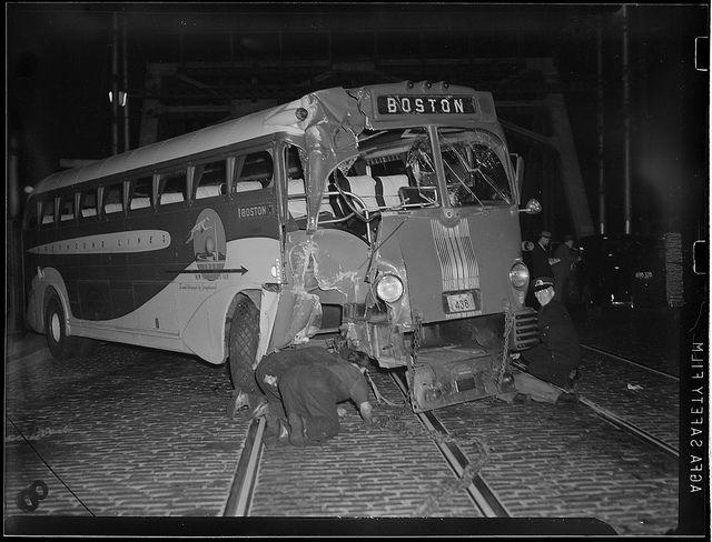 Boston Greyhound bus crash, 1939