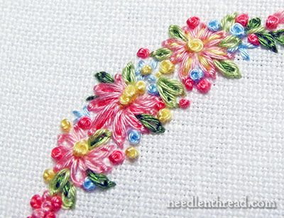 Tutorials for Hand Embroidered Leaves & Flowers