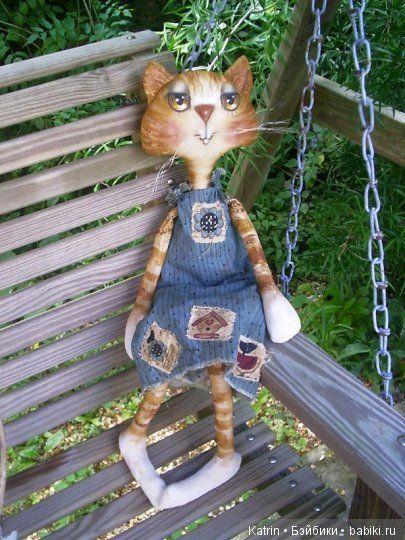Текстильные коты, игрушки от Bermuda Angels - Бэйбики ...
