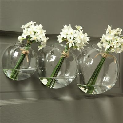 Wall Bubble Vases Set Of Two Walls Flowers And Plants