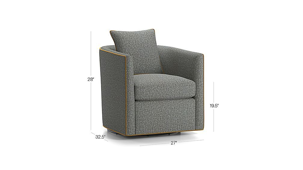 Drew small swivel chair reviews crate and barrel with