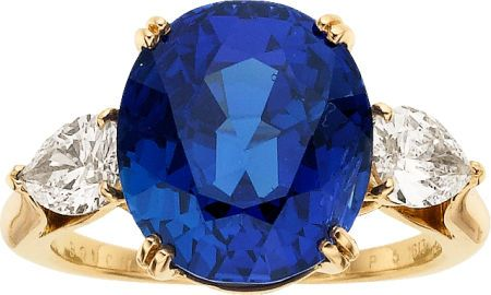 Sapphire, Diamond, Gold Ring, Boucheron, French.