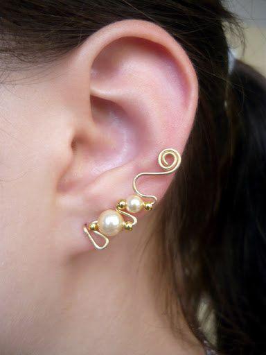 Ear pins, ear sweeps, ear vines Wire wrapped via Etsy
