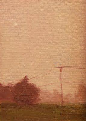 "Daily Paintworks - ""Foggy Field"" by Laurel Daniel 7*5"