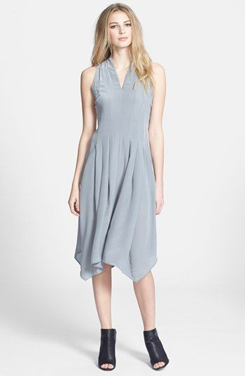 This dress is so diaphanous & beautiful! Eileen Fisher V-Neck Silk ...