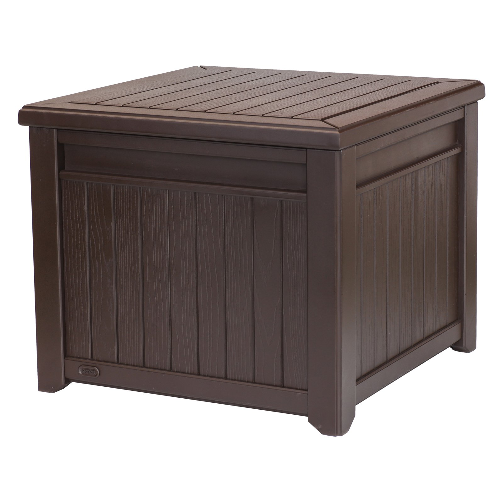 Outdoor Keter Resin 55 Gallon Deck Box Brown Panel