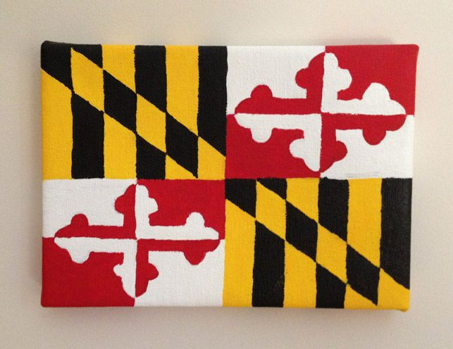 Do it yourself maryland pride and crafty diy state pride canvas dormify i hate this state called maryland but just to solutioingenieria Gallery