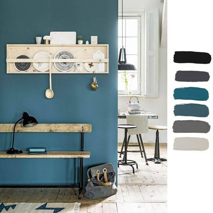 Colori in casa blu petrolio e grigio - Bagno casa di campagna ...