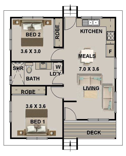 New Age Small  Tiny Home Design Nice Floor Plans Pinterest