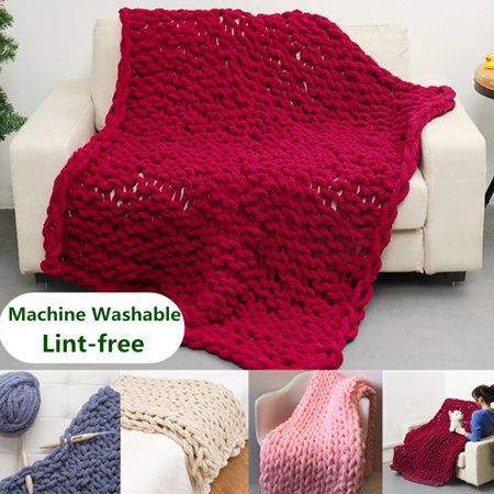 Home in 2019 | Products | Knitted blankets, Chenille blanket