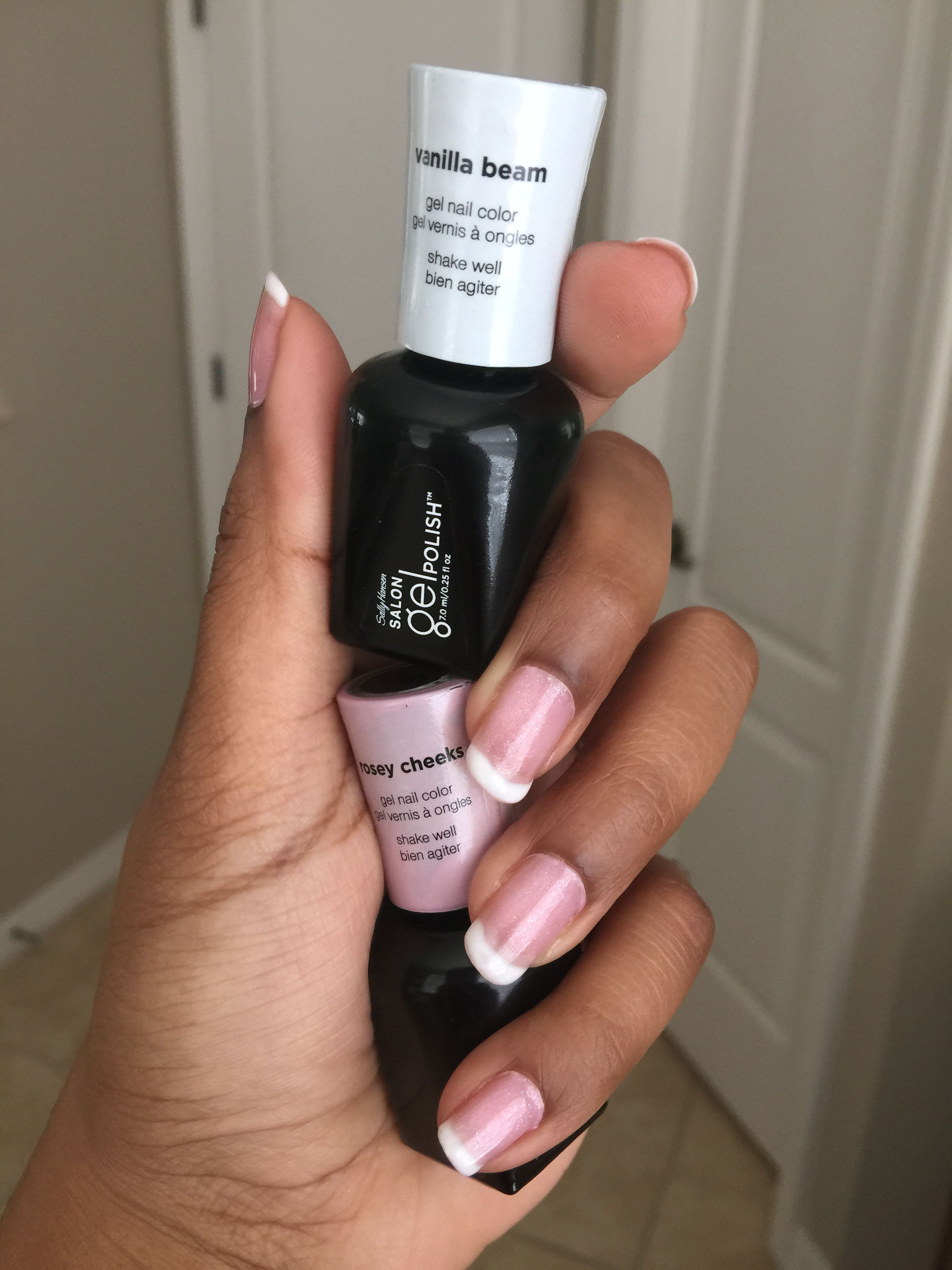 Sally Hansen gel manicure with Vanilla Beam & Rosey Cheeks | Makeup ...