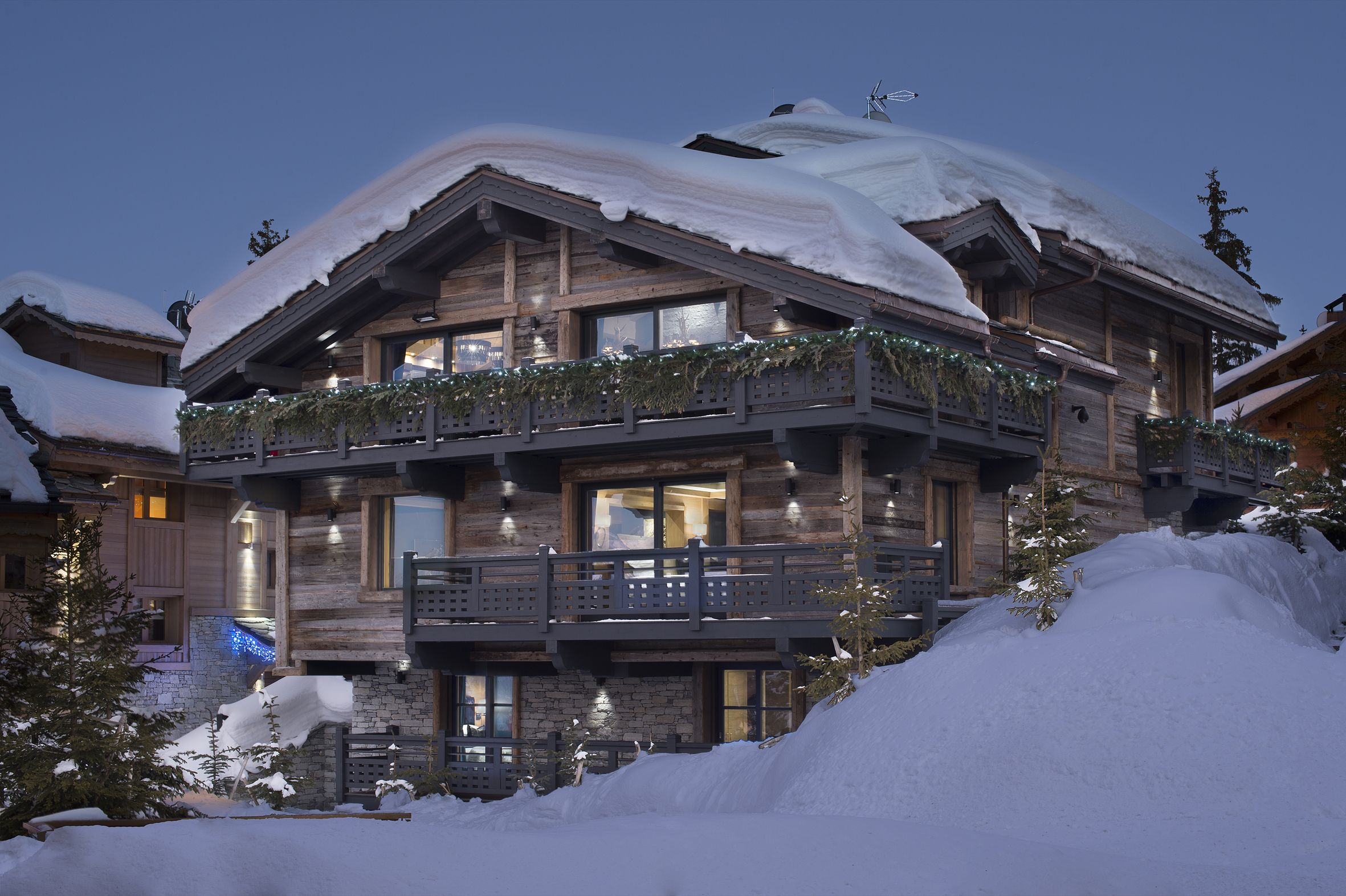 #Chalet in #Courchevel1850 - #FrenchAlps This 1500m²luxury chalet, consists of 7 en suite bedrooms.