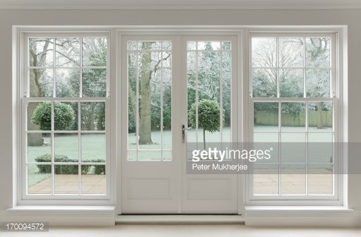 Formal Front Yard Design Google Search Wooden French Doors White Windows Patio Doors