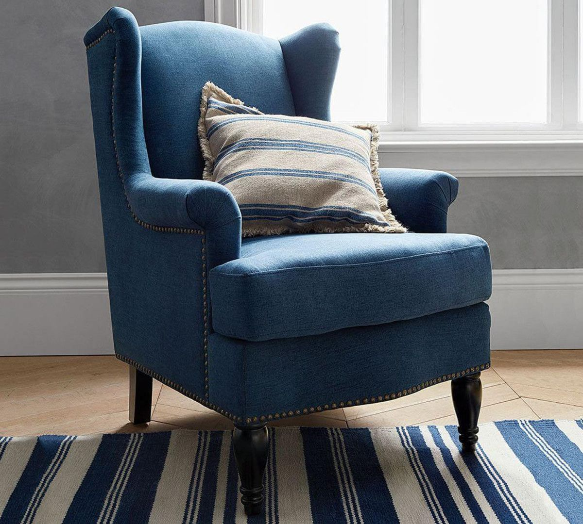 Soma Delancey Wingback Upholstered Armchair Pottery Barn Au