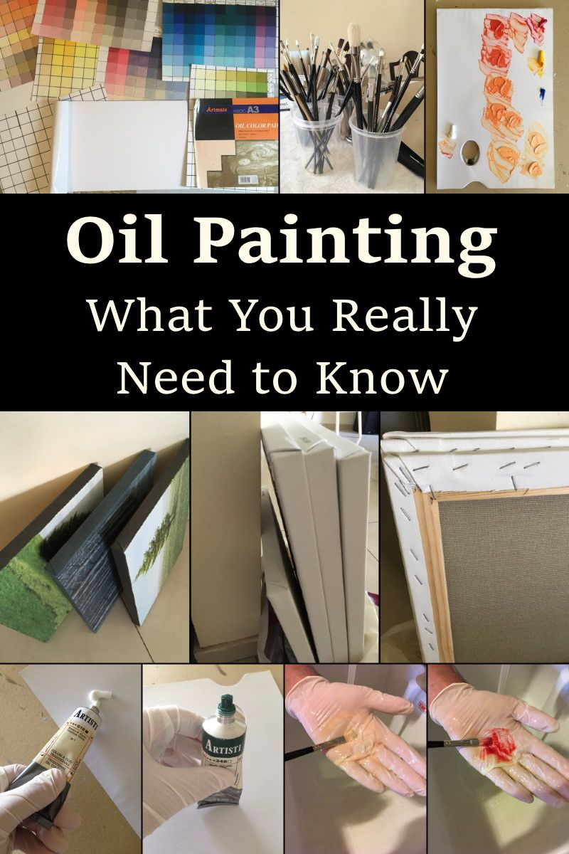 What you really need to know and which supply you should use when starting with oil paintings. #painting #oilpainting #learntopaint #paintingtutorial
