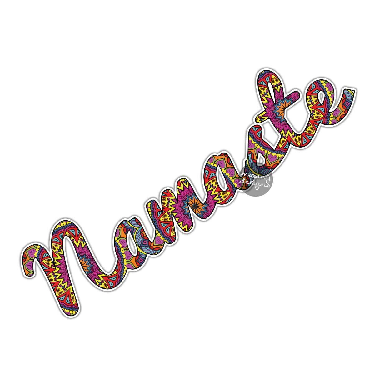 Namaste Yoga Sticker Colorful Car Decal Vinyl Bumper Sticker