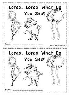 Seuss Emergent Reader - Lorax, Lorax, What Do You See? | Kind