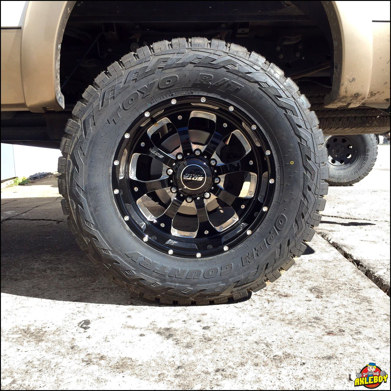 37 Toyo Open Country Tire And 20 Sota Offroad Wheel Under A Truck Axleboy Offroad Jeep Shop Wheel Truck Accessories