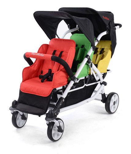 Familidoo 3 Seater Lightweight Stroller Car Seat And Pram Triplets