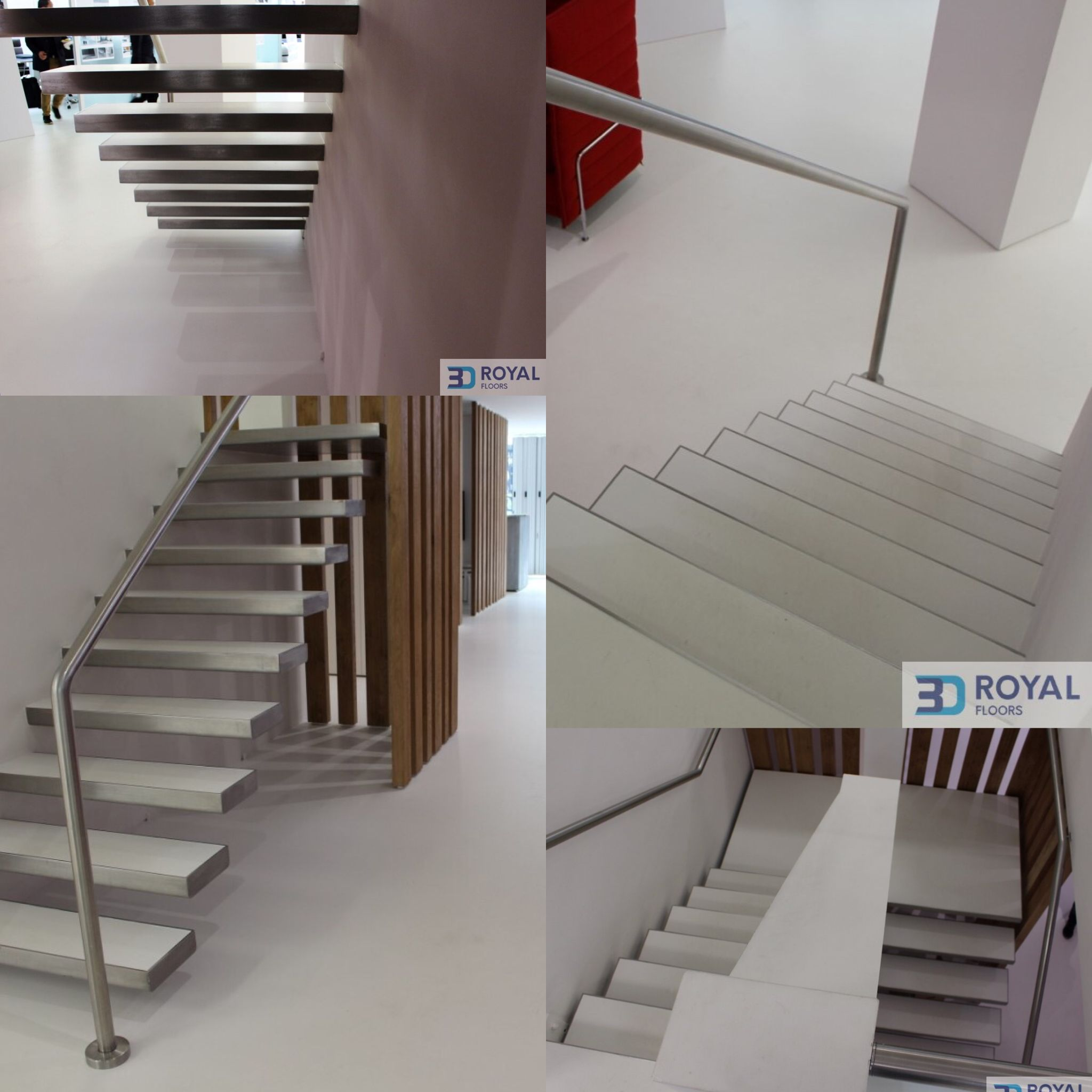 Truly Beautiful White Office Staircase Poured With Resin. Luxury And Easy  To Maintain. . . . . . . . . . #resinflooring #pouredresin #pouredfloor ...
