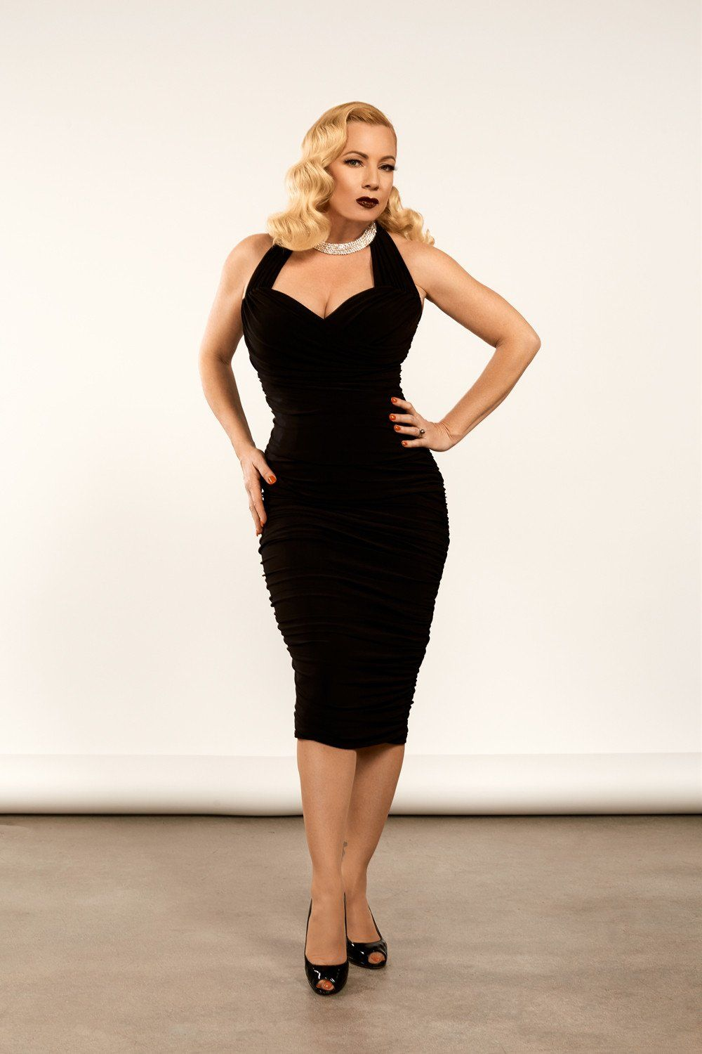 Traci Dress in Black by Traci Lords