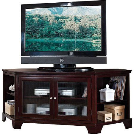 Acme Namir Espresso Corner Tv Stand For Flat Screen Tvs Up To 60